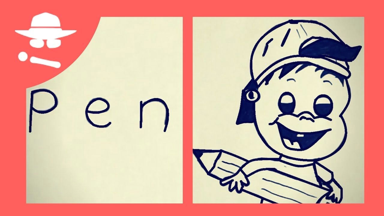 how to turn word pen into a cartoon learn drawing art on paper for kid