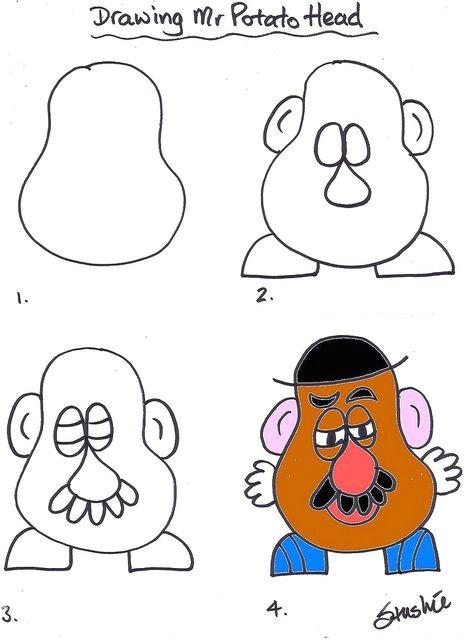 Cartoon Drawing Classes Potato Head Back to School Activities In 2019 Pinterest