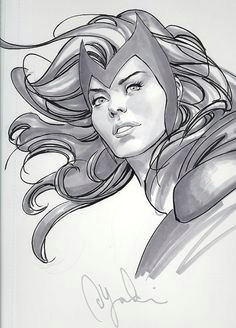scarlet witch she looks very pretty here comic book characters marvel characters