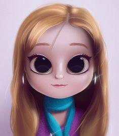 cartoon portrait digital art digital drawing digital painting character design