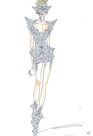 fashion cartoon gown