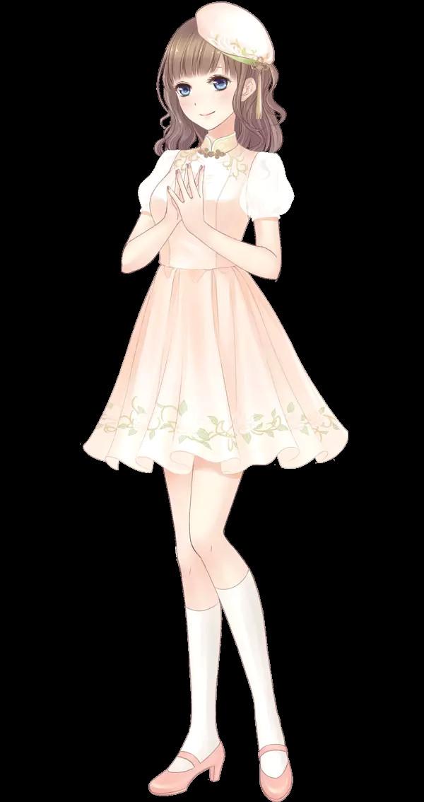 anime girl pink manga girl nia os anime anime art anime dress