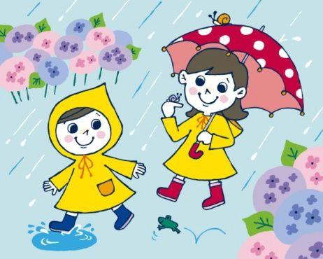 rainy day cartoon rainy season drawing cartoon