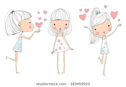 cute baby kids baby girl drawing illustration girl cute kids cute babies