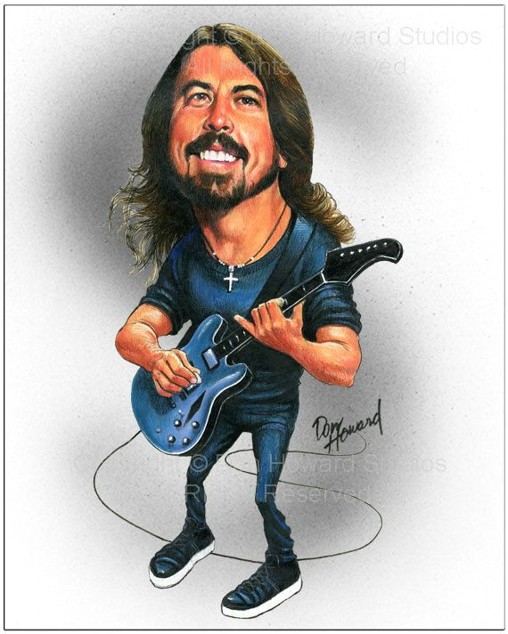 dave grohl limited edition celebrity caricature by don howard by