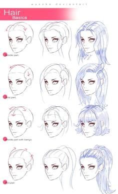 Cartoon Drawing Hairstyles 201 Best Anime Hairstyles Images Anime Hairstyles Dibujo Drawings