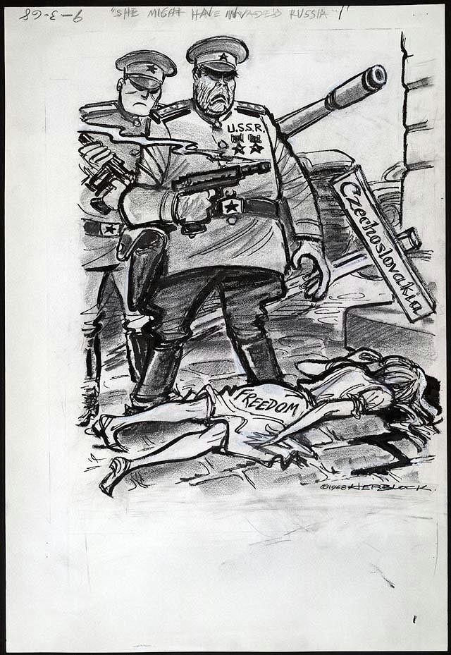 1968 russia ends praque spring democratization of czechoslovakia