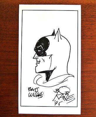 batman bob kane signed drawing amazing own a piece of history rpt