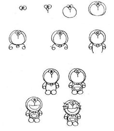 simple drawing tutorials for cartoon characters you recognize