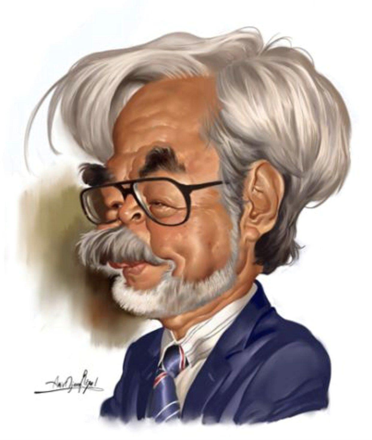 hayao miyazaki caricatures toons mag miyazaki tattoo studio ghibli movies japanese film
