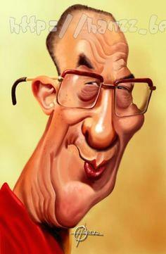 dalai lama caricatures politiques caricature drawing dalai lama tintin artwork ideas