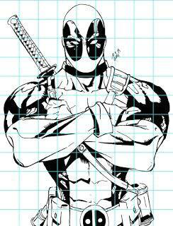 mr mintart superhero grid drawing