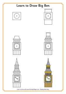 learn to draw big ben and heaps of other london landmarks interests