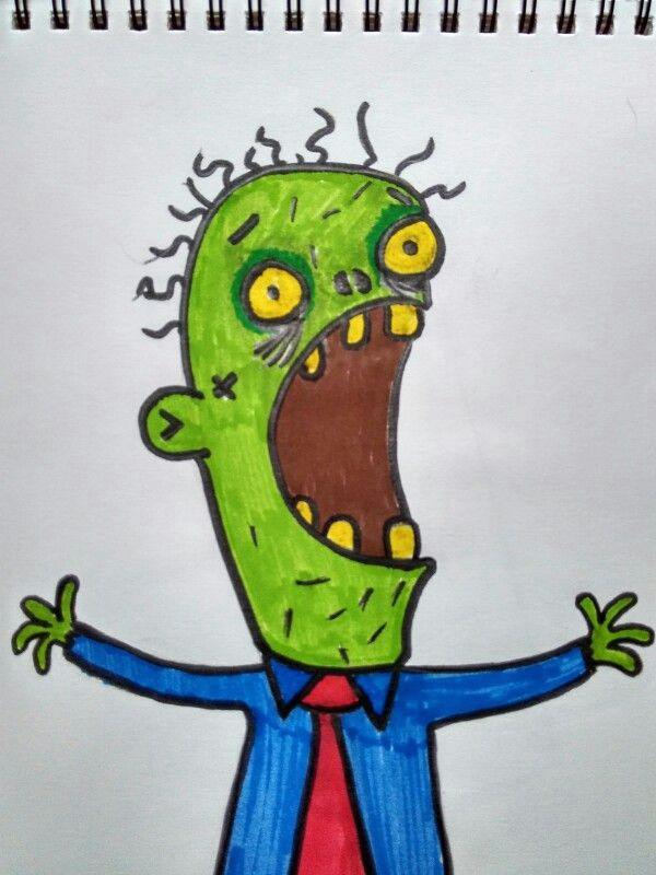 re draw od a c letter zombie