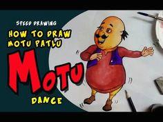how to draw motu patlu motu dance