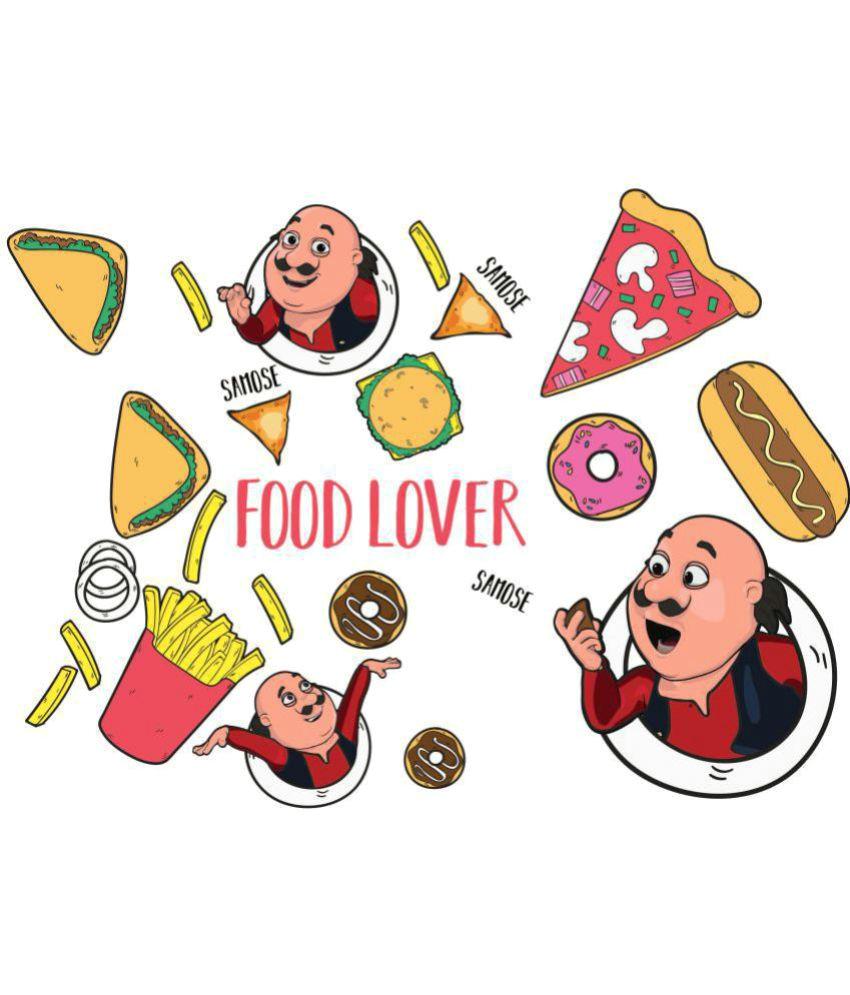 asian paints wall ons motu patlu xxl yummy food lovers cartoon characters sticker 101 x 168 cms buy asian paints wall ons motu patlu xxl yummy food