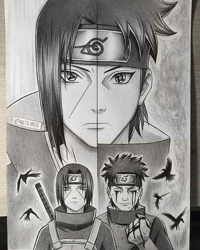 awsome artwork of itachi shisui uchiha anime echii anime naruto naruto sasuke sakura