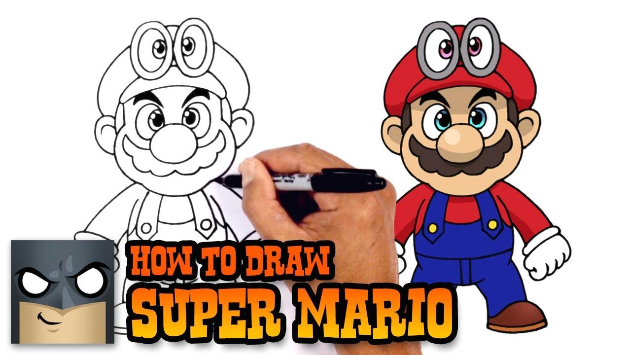 how to draw super mario super mario odyssey