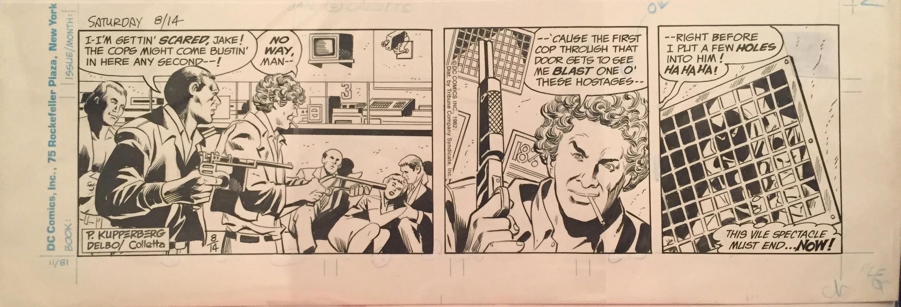 the world s greatest superheroes present superman newspaper strip 8 14 1982 comic art
