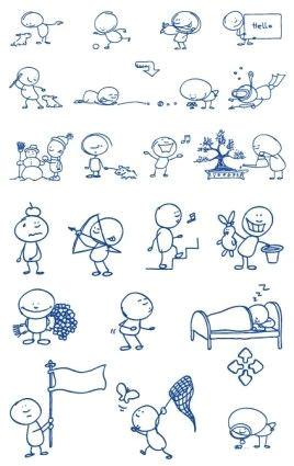 ballpoint pen drawing cartoon vector clip 2