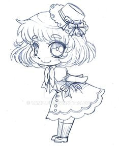 little sailor chibi sketch