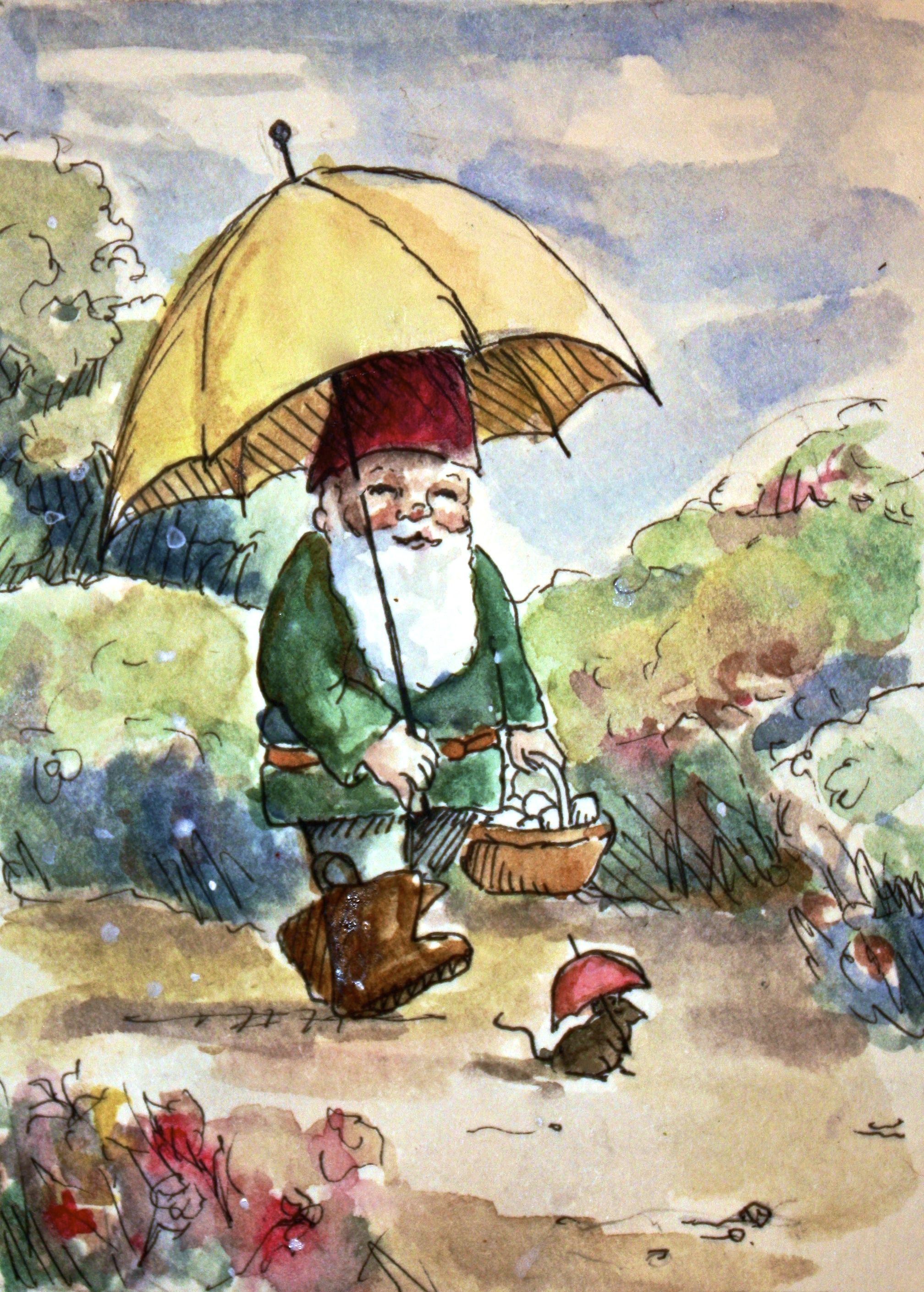 even a rainy day can be full of joy jollygnome com