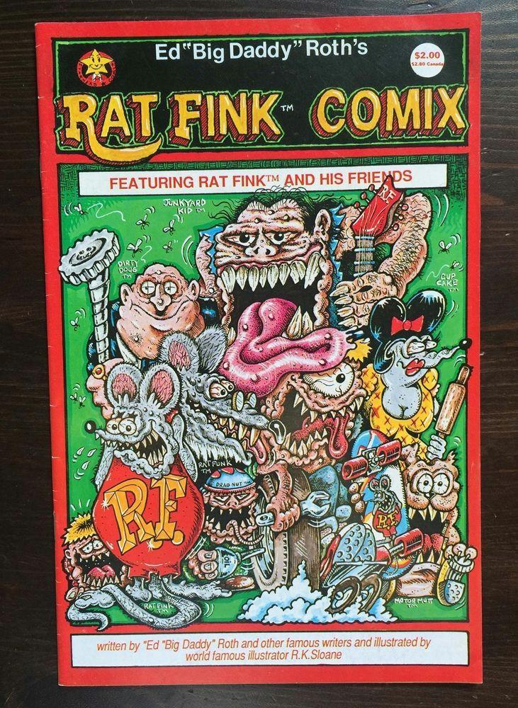 rat fink comix ratfink ed big daddy roth comic ratrod custom hot rod underground