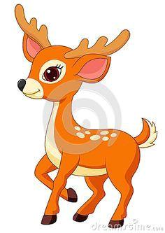 cute deer cartoon by tigatelu via dreamstime deer cartoon cartoon images animal drawings