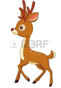 cute deer cartoon vector deer cartoon drawing animals animal drawings vector art