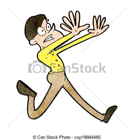 cartoon man running away csp19664485