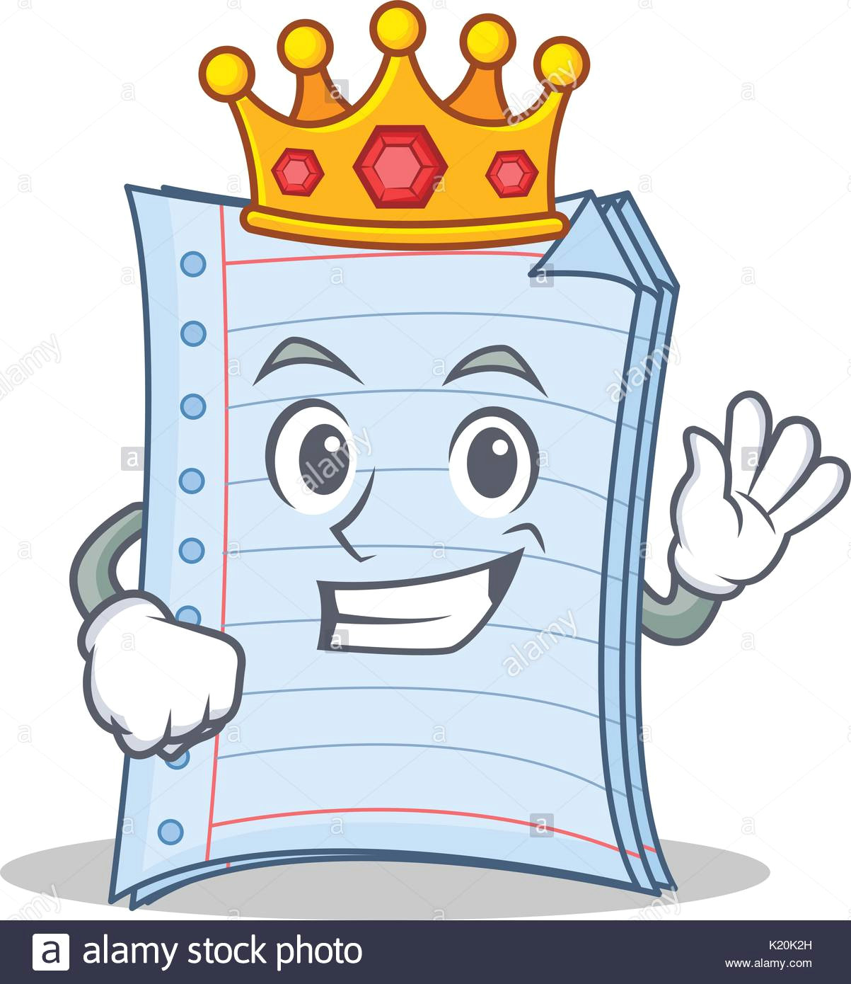 king notebook character cartoon design