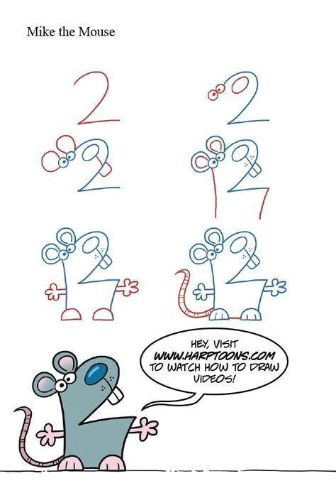 Cartoon Drawing Using Numbers Drawing Animals with Numbers Drawingtips Cartoon Anime Drawings