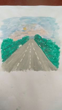 drawing road