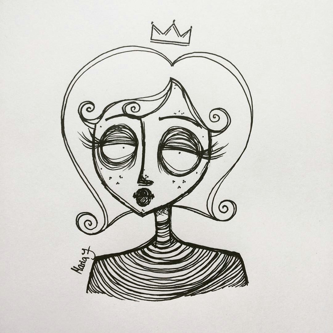 treat yourself as royalty crown simple curles instadraw drawing