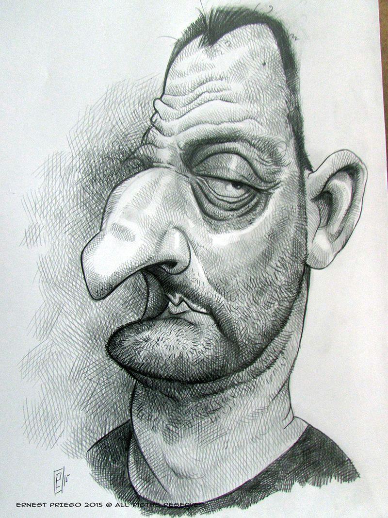 caricaturas manuales y digitales de alta calidad portrait cartoon jean reno cartoon people