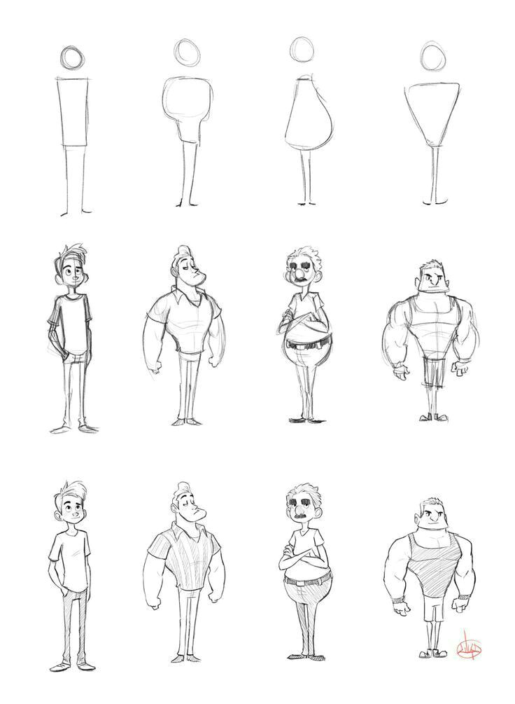 Cartoon Joint Drawing Drawing Learning Lovedrawing Sketches Drawing In 2019