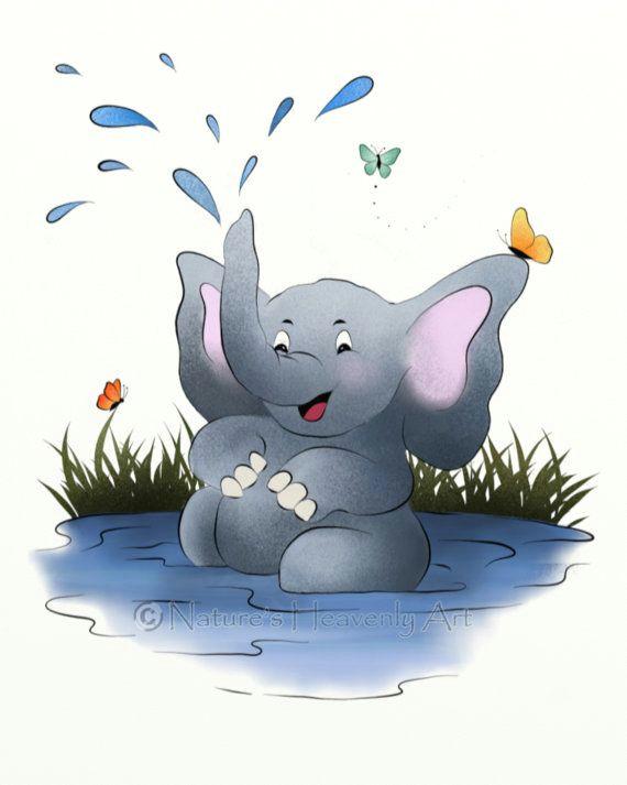 elephant childrens art jungle animal nursery by naturesheavenlyart 16 00