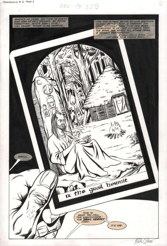 knights od pendragon issue 13 page 1 splash marvel uk comic art