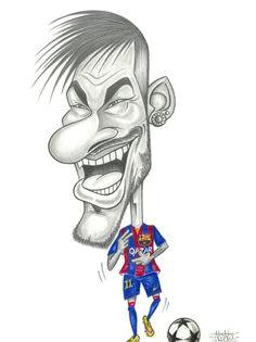 caricature neymar fcblive via laporteriabtv caricature drawing football