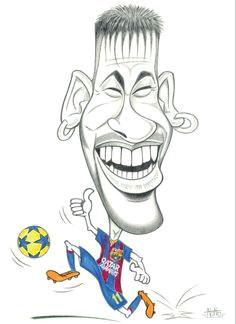 caricature neymar via laporteriabtv neymar fc barcelona soccer