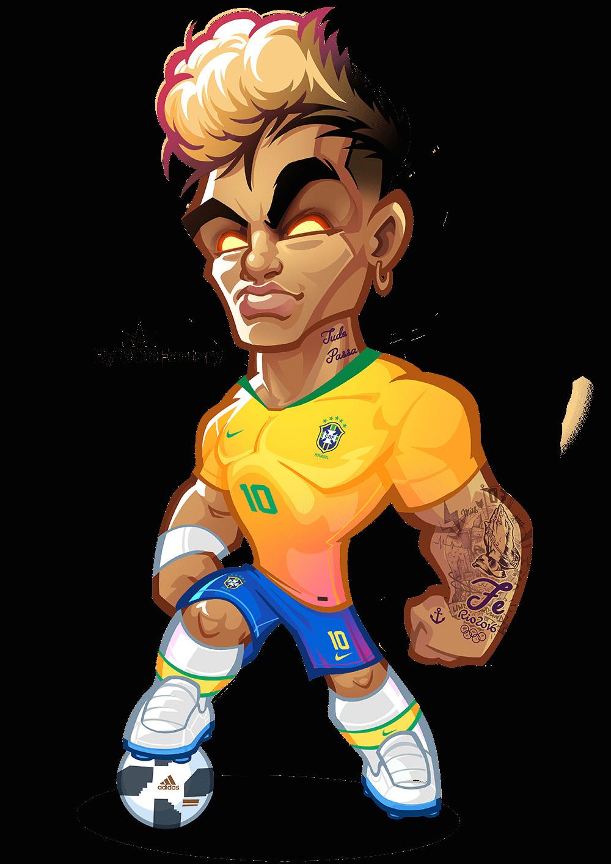 neymar jr drawing easy worldcup russia 2018 mascotization messi cristiano neymar salah of neymar jr drawing