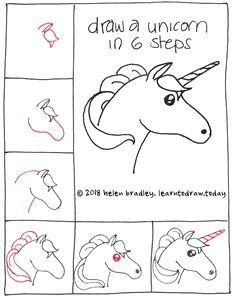 simple steps for unicorn easy drawings doodle drawings animal drawings doodle art