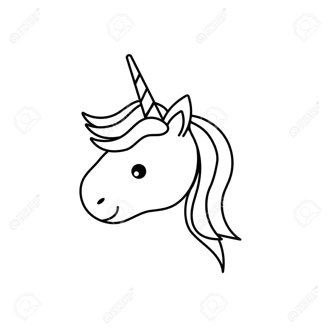 image result for line drawing unicorn