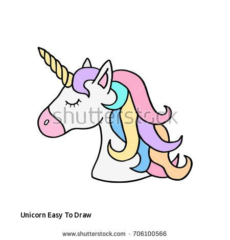 Cartoon Unicorn Drawing Easy Unicorn Easy to Draw Prslide Com