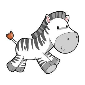 children s wall decals cartoon cute baby zebra