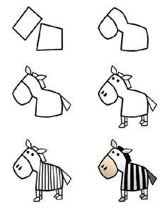 how to draw a cartoon zebra step 3