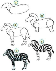 draw wildlife animals zebra zebra drawing easy drawings animal drawings art for