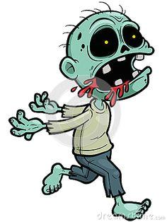 cartoon zombie more halloween drawings