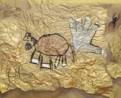 cave painting for kindergarten cave drawings class art projects cave painting aboriginal art