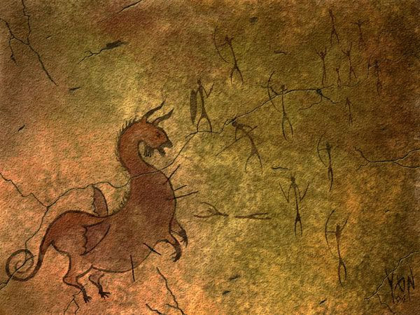 Cave Drawings Of Dragons Caves Paintings with Dragons Google Search Desene Pee Teri Cave